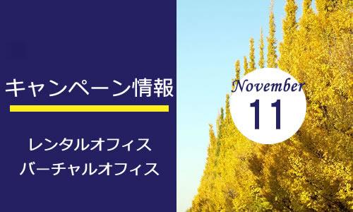 最新の空室情報★11月キャンペーン予告!
